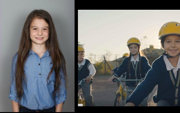 Oyuncumuz İrem Gül Kıvrık, Eti Sarı Bisiklet Reklamında yer aldı.