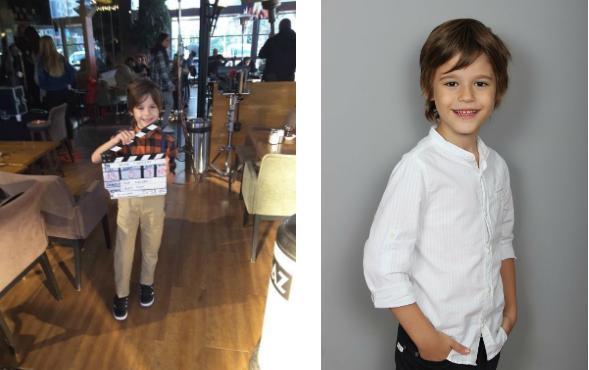 Çocuk oyuncumuz Ahmet Mete Mumcu, Kamu Spotu Reklamı setinde.