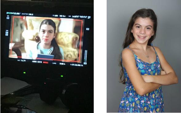 Çocuk oyuncularımızdan Elif Sevinç , Sakız Reklamı setinde.