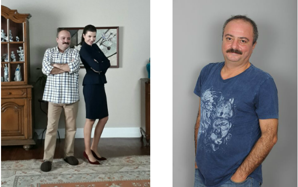 Oyuncumuz Mehmet Timur Dilsiz, Banka Reklamı setinde.