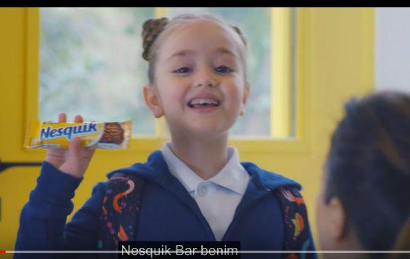 Çocuk oyuncumuz Mihrimah Cankur, Nestle Nesfit Reklamında yer aldı.