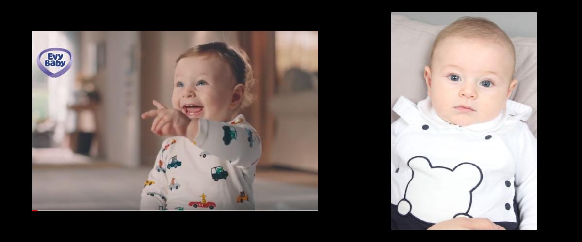 Bebeğimiz Yaman Birinci, Evy Baby Bebek Bezi Reklamında yer aldı.