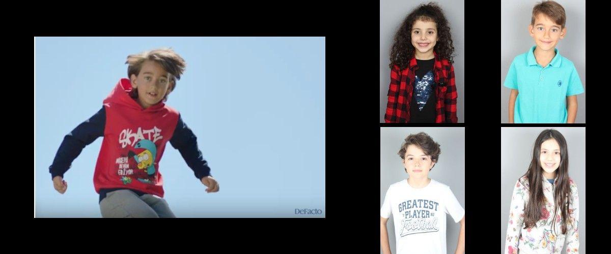 Çocuk modellerimiz İrem Bakıner, Mustafa Kaan Bayrak, Okan Tur ve Zeynep Şengüler, Defacto Okula Dönüş Reklamında yer aldı.