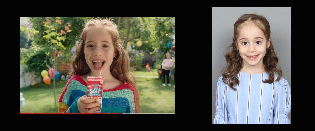 Çocuk oyuncumuz İrem Kolgu, BİM Dost Aromalı Süt Reklamında yer aldı.
