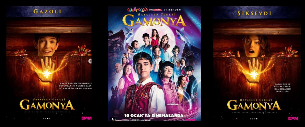 Oyuncularımız Arda Taşarcan ve Ceren Reis, Gamonya Hayaller Ülkesi Sinema Filminde anacastta yer almaktadır.