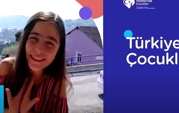 Çocuk oyuncumuz Meliha Melek, evinde sete girdi ve Türkiye`nin Çocukları reklamında yer aldı.