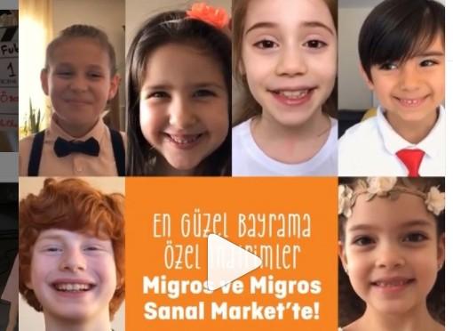 Çocuk oyuncumuz İrem`in, 23 Nisan Migros Reklamı yayında.