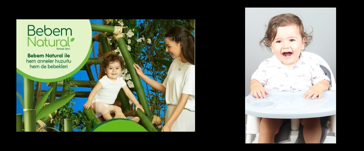 Bebem Natural Reklamında, tatlı bebeğimiz Talha Eymen Şeker yer aldı.